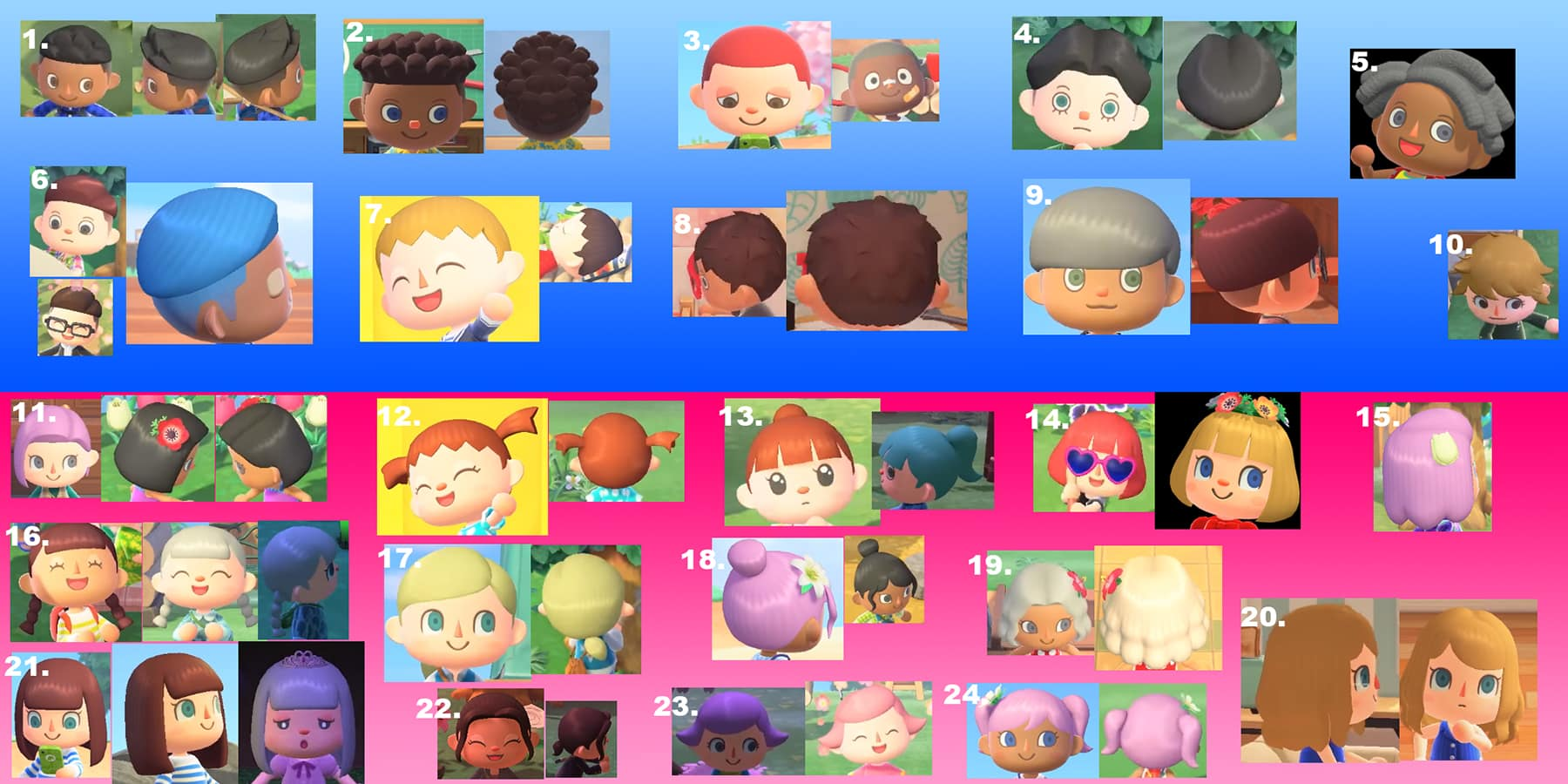 animal crossing hair guide