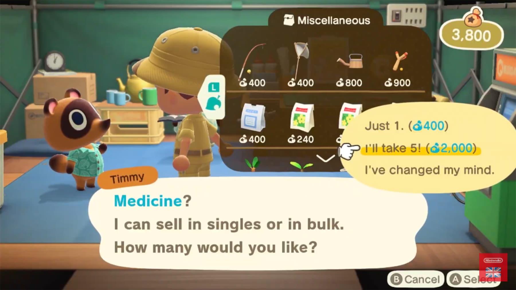 animal crossing medicine